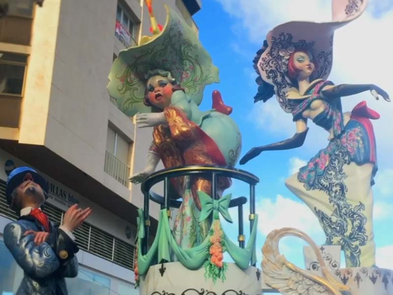Teaser of Fallas 2017 in Denia, Spain
